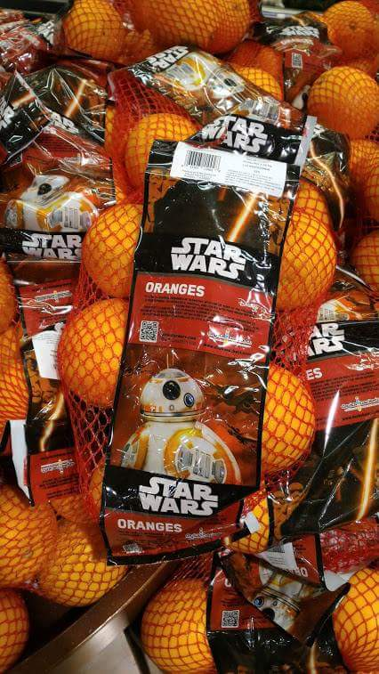 Star Wars Force Awakens BB-8 Oranges